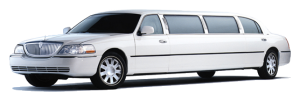White stretched limousine north bay